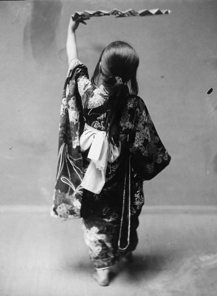 Fig. 13. A Japanese girl in a studio, attributed to E. A. Hornel, 1893 | © National Trust for Scotland, Broughton House and Garden