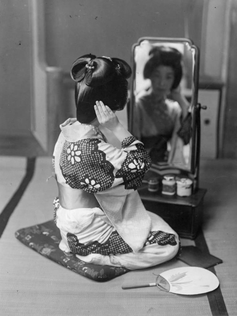 Fig. 15. Japanese girl posing, unknown photographer c.1893 | © National Trust for Scotland, Broughton House and Garden