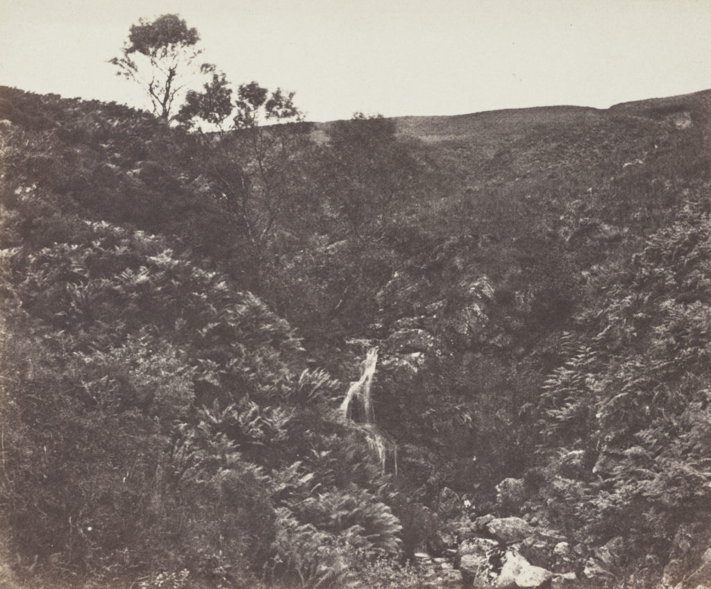 Hillside with waterfall - Arran by John Muir Wood