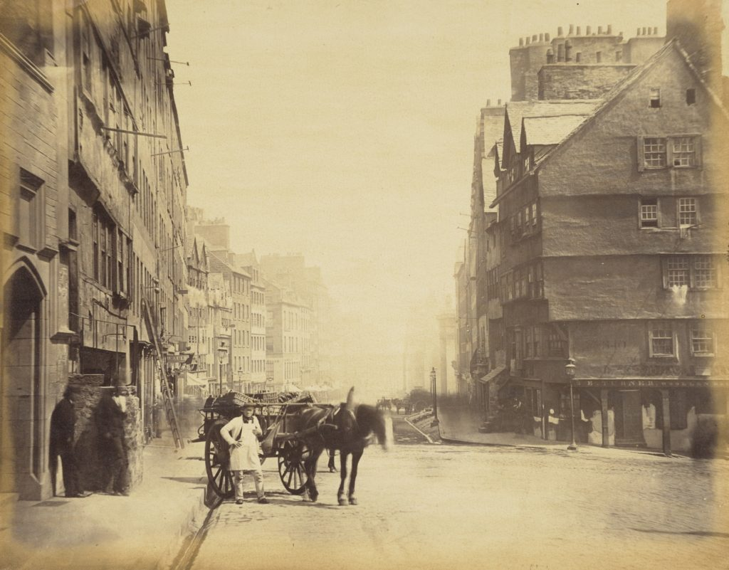 William Donaldson Clark, The Lawnmarket, head of the West Bow, Edinburgh, About 1860,